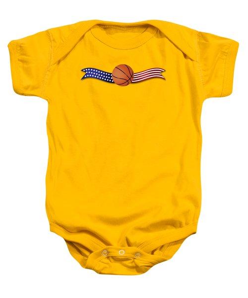 Usa Basketball Baby Onesie