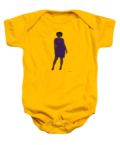 Baby Onesie featuring the digital art Vanessa by Nancy Levan