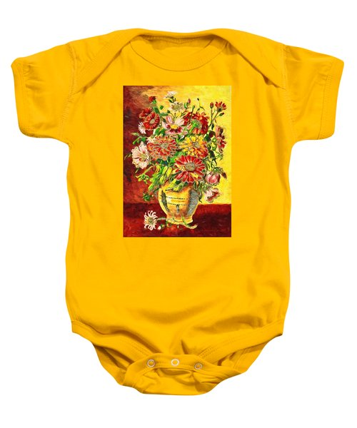Baby Onesie featuring the digital art Vase Of Flowers by Charmaine Zoe