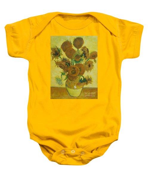 Vase Withfifteen Sunflowers Baby Onesie