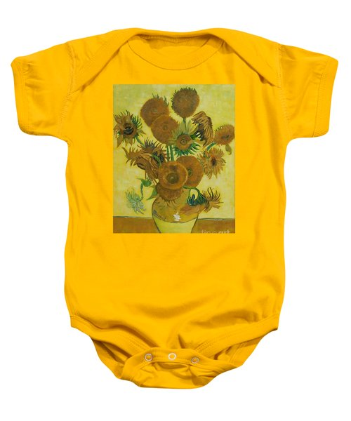 Vase Withfifteen Sunflowers Baby Onesie