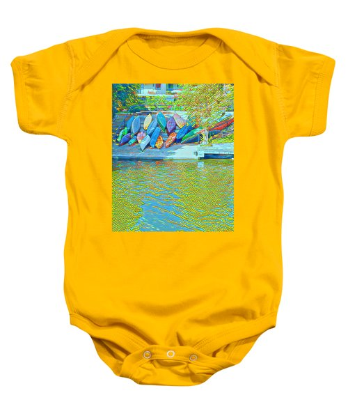 View From East Side Boardwalk Baby Onesie