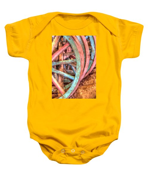 Wagon Wheels Baby Onesie