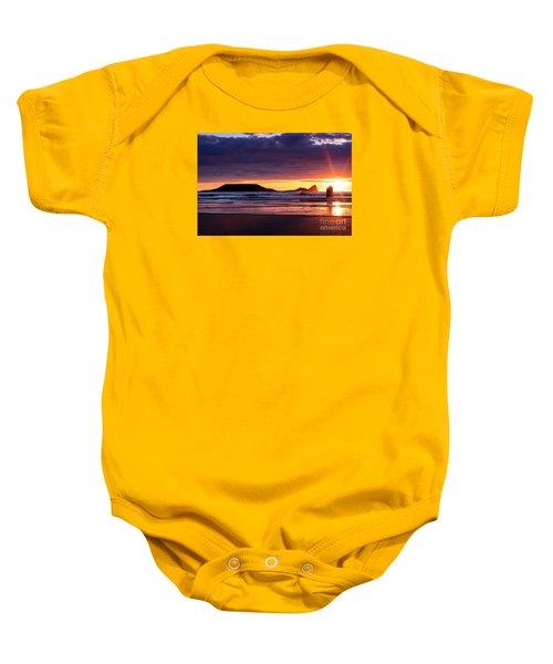 Wales Gower Coast Helvetia Baby Onesie