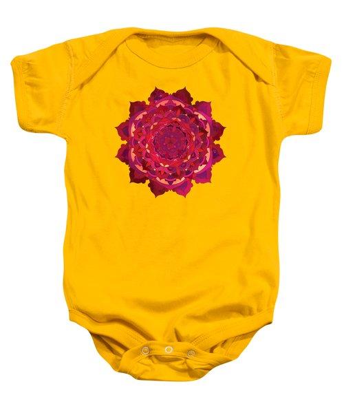 Warm Autumn Mandala Baby Onesie