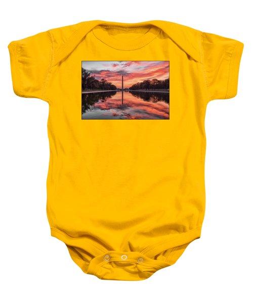 Washington Monument Sunrise Baby Onesie