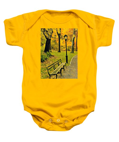 Washington Square Bench Baby Onesie
