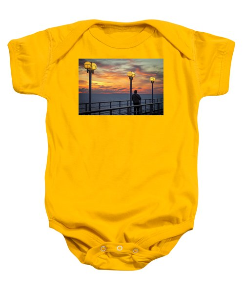 Watching The Sun Go Down Baby Onesie