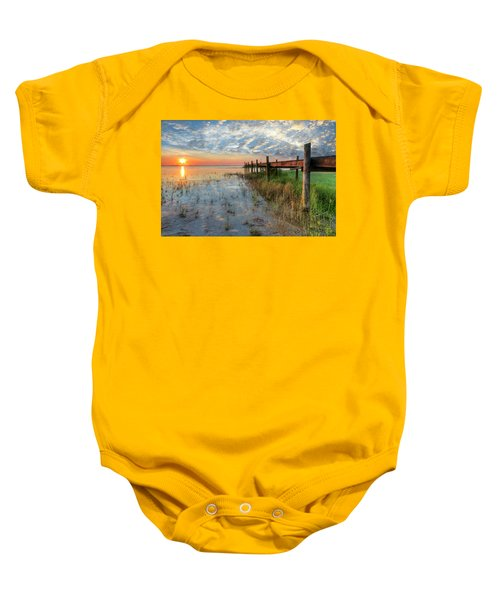 Watching The Sun Rise Baby Onesie