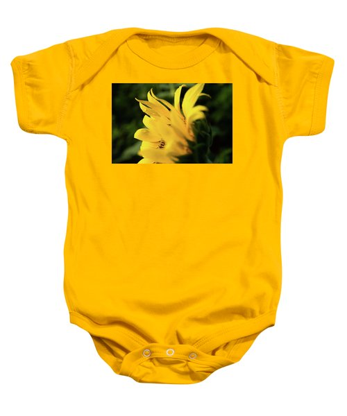 Water Drops And Sunflower Petals Baby Onesie