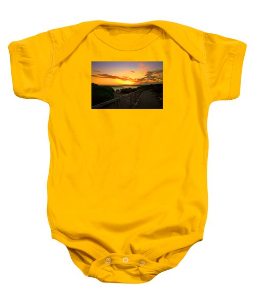 While You Walk Baby Onesie