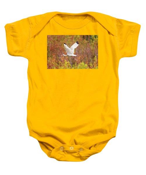 White Ibis In Hilton Head Island Baby Onesie