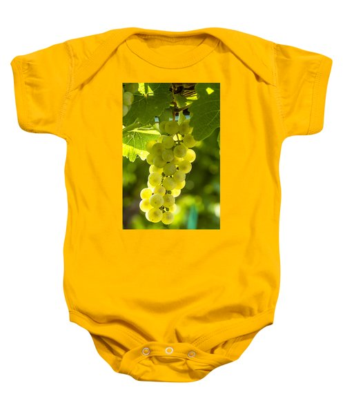 White Wine Grapes Lit By The Sun Baby Onesie