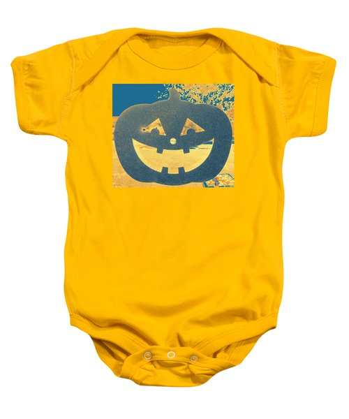 Window Pumpkin #2 Baby Onesie