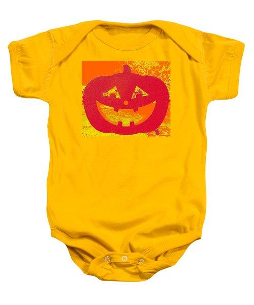 Window Pumpkin #4 Baby Onesie