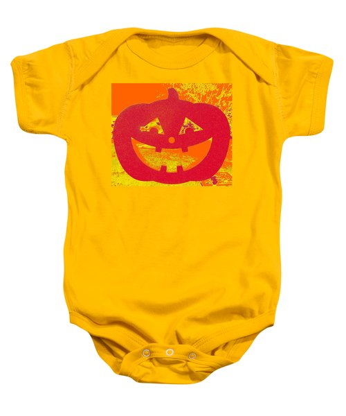 Window Pumpkin #4 Baby Onesie