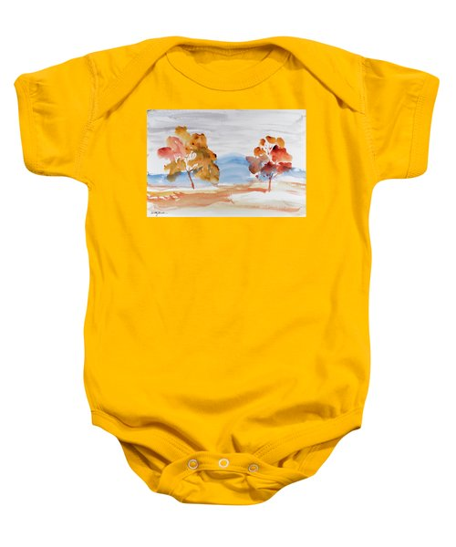 Windy Autumn Colours  Baby Onesie