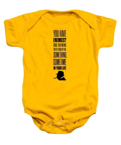 Winston Churchill Inspirational Quotes Poster Baby Onesie