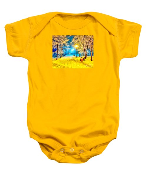 Winter Street Baby Onesie