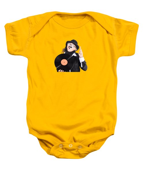 Baby Onesie featuring the photograph Woman Disc Jockey by Jorgo Photography - Wall Art Gallery