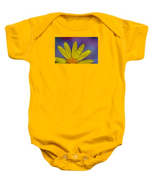 Yellow And Dew Baby Onesie