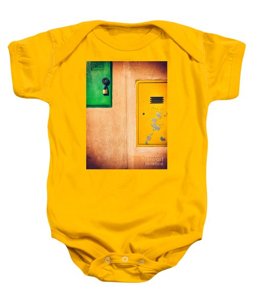 Baby Onesie featuring the photograph Yellow And Green by Silvia Ganora