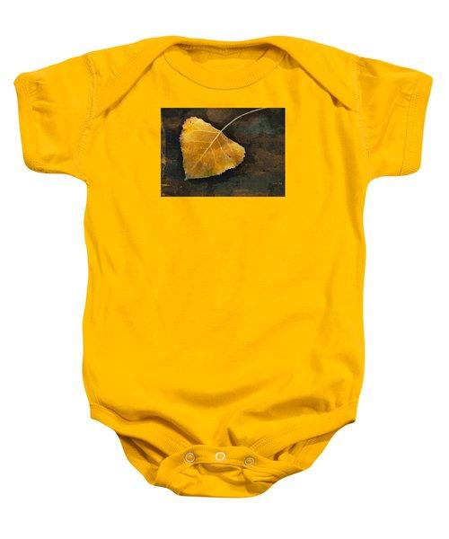 Yellow Autumn Leaf Baby Onesie