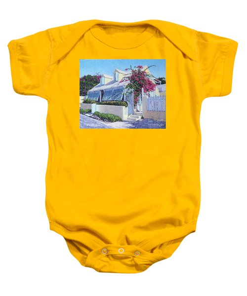Yellow Bird Baby Onesie