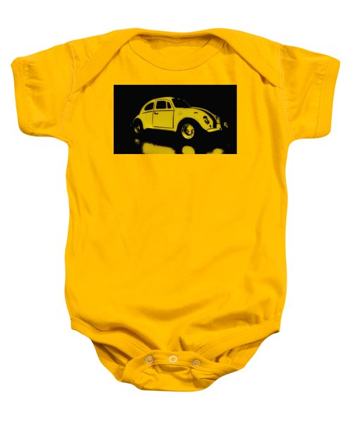 Yellow Bug Baby Onesie