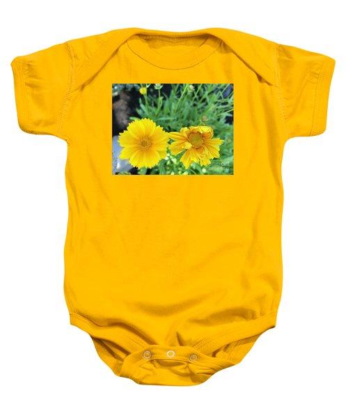 Yellow Coreopis Baby Onesie