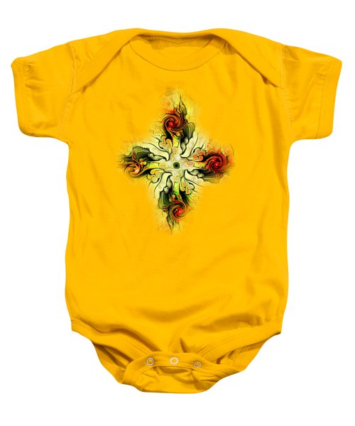 Yellow Cross Baby Onesie