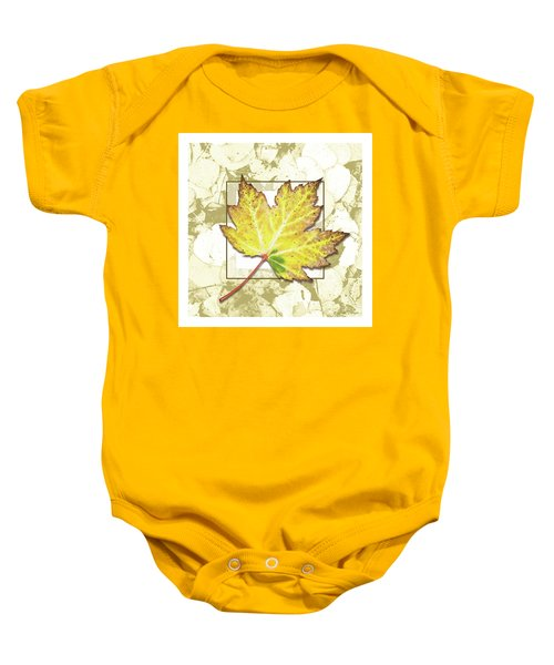 Yellow Fall Baby Onesie