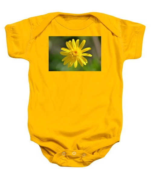 Yellow Fireworks Baby Onesie