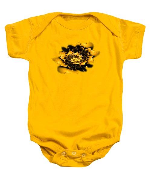 Yellow Flower Baby Onesie by Anastasiya Malakhova