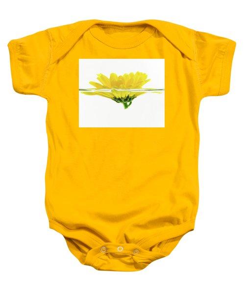 Yellow Flower Floating In Water Baby Onesie