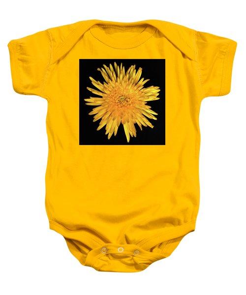 Yellow Flower Macro Baby Onesie