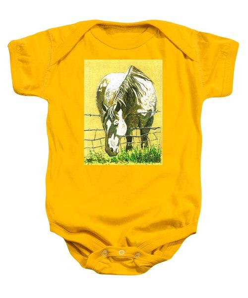 Yellow Horse Baby Onesie