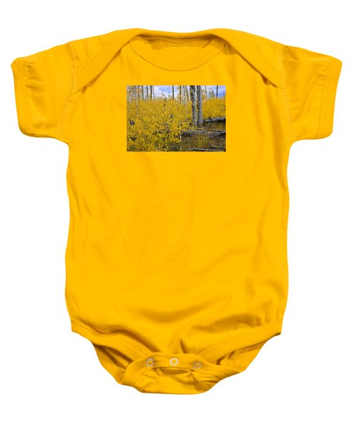 Yellow In Grand Teton Baby Onesie