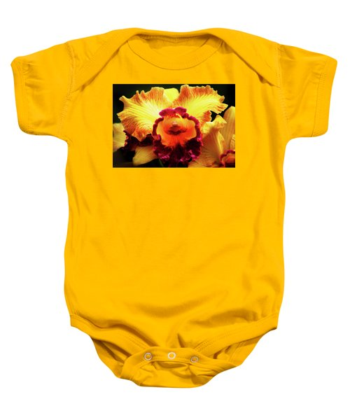 Yellow-purple Orchid Baby Onesie