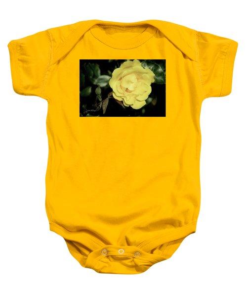 Yellow Rose Baby Onesie