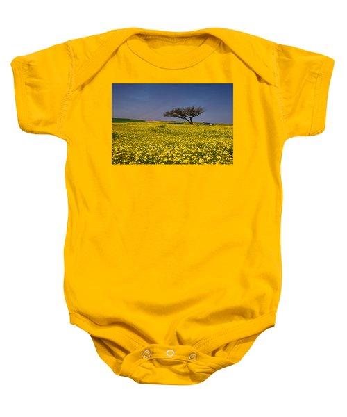 Yellow Spring Baby Onesie