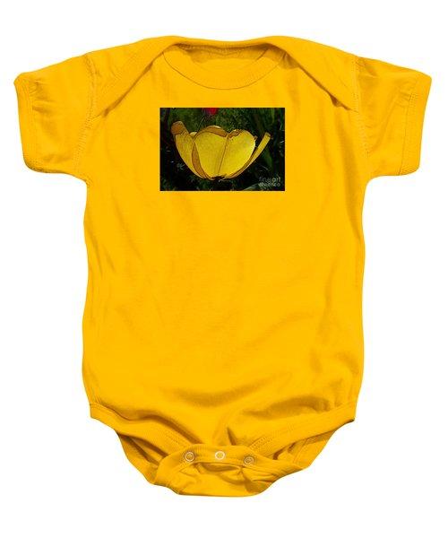 Yellow Tulip 2 Baby Onesie