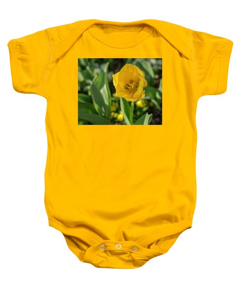Yellow Tulip Baby Onesie