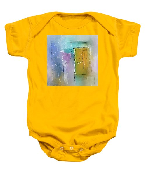Yellows And Blues Baby Onesie