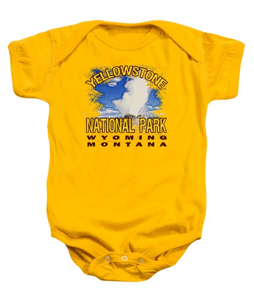 Yellowstone National Park Baby Onesie by David G Paul