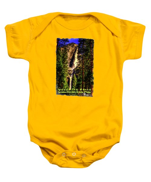 Yosemite Falls Framed By Ponderosa Pines Baby Onesie by Roger Passman