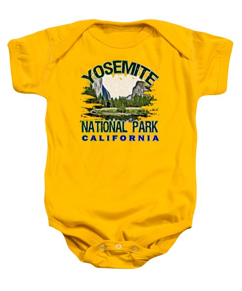 Yosemite National Park Baby Onesie by David G Paul