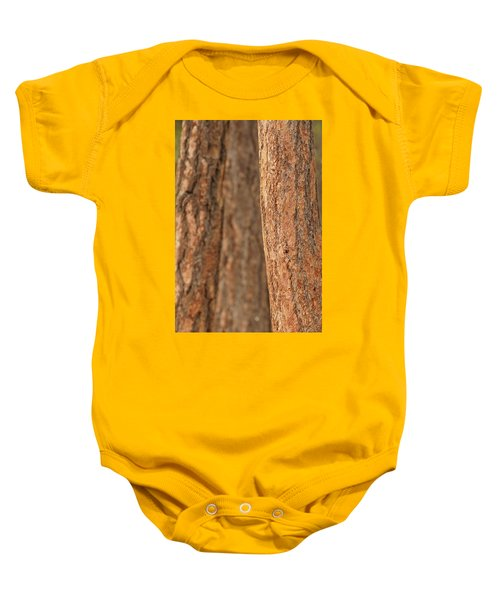 Ponderosa Pine Bark Detail Baby Onesie