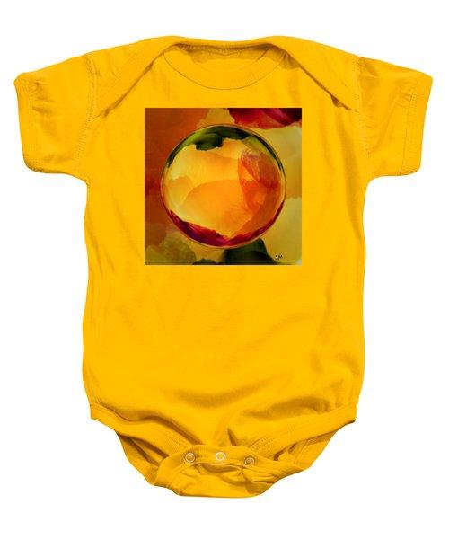 Watercolor Glass Marble  Baby Onesie