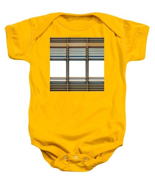 White Windows Baby Onesie